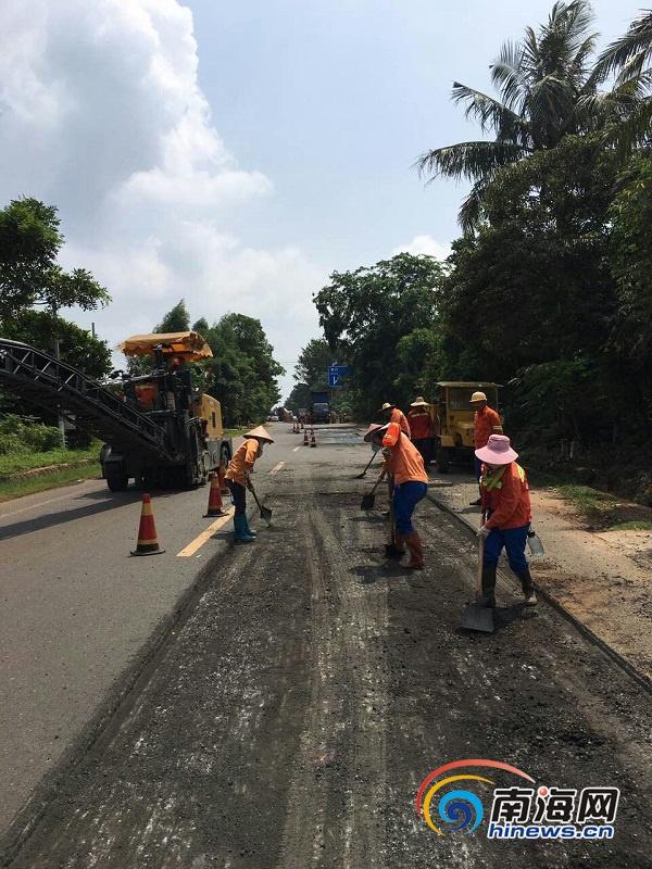 除白沙地桥便道海南省因灾水毁公路全部恢复通行