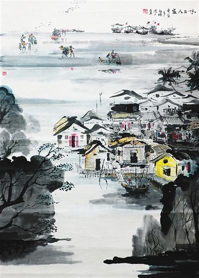 画家徐鸿才致力于传播海南黎族风情的版画倾心刻画海南风情