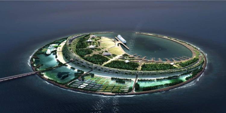 海航要在海口湾建人工旅游岛看看得奖的方案长啥样