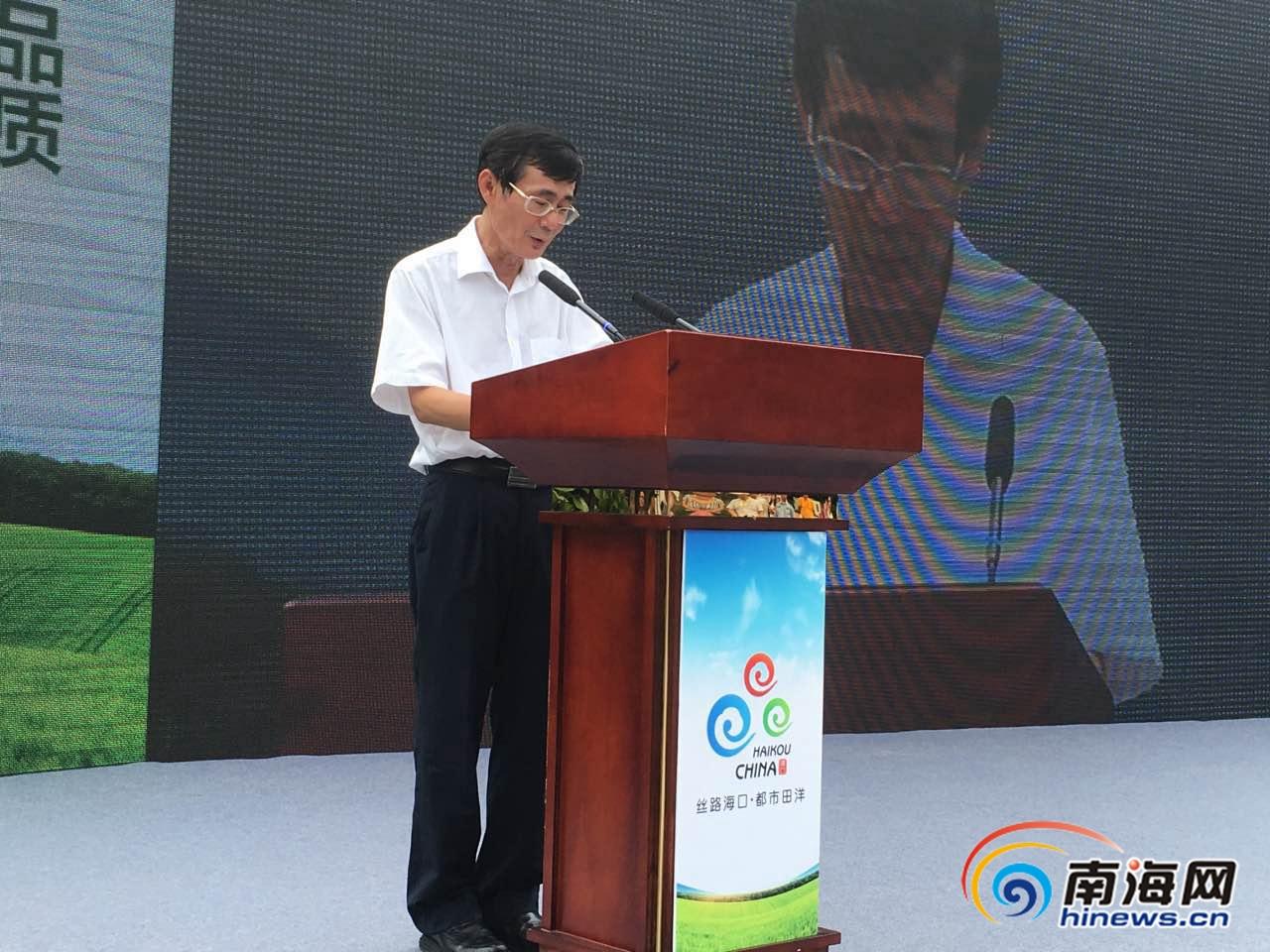 吴清雄:海报集团携手海口规划农业品牌战略路线图