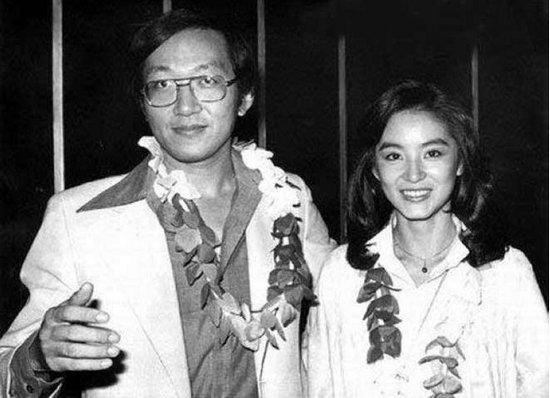 1970年代初,女星林青霞与留美才子赵宁合影.图片