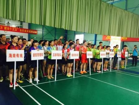 海南省互联网协会联队荣获2019海南省通信行业羽毛球赛第三名