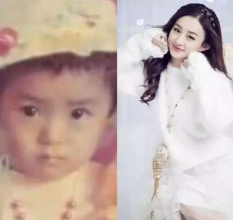 小时候的赵丽颖相貌普通,但长大后显得清纯可爱
