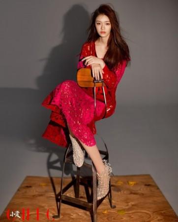 林允性感变红衣摩登妈妈魅惑性感酷玩风的女郎时尚v性感图片
