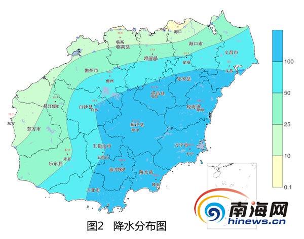 海南未来三天持续降水不利晚稻灌浆和瓜菜苗期生长
