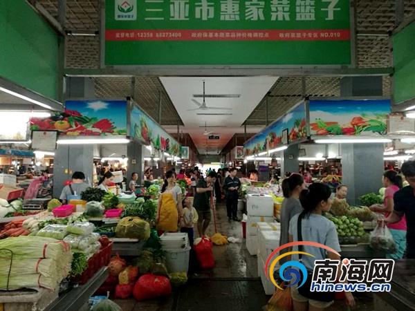 三亞蔬菜供應較充足 主副食品價格較平穩