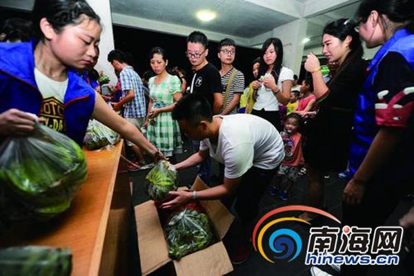 陵水贫困村香蕉海师校园义卖 2小时卖完4000多斤