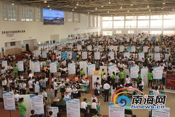 全国大中城市联合招聘毕业生活动海口举行159家企业招4482人