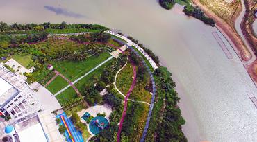 航拍三亚月川生态绿道 连接人和自然的走廊[图]