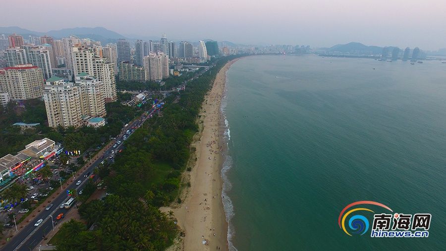 三亚双修|三亚湾生态修复海滩宛如美丽彩带