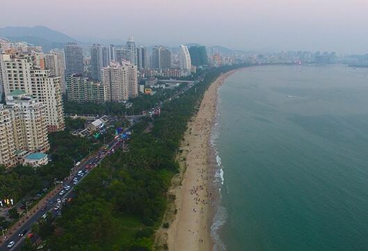 三亚双修| 三亚湾生态修复 海滩宛如美丽彩带