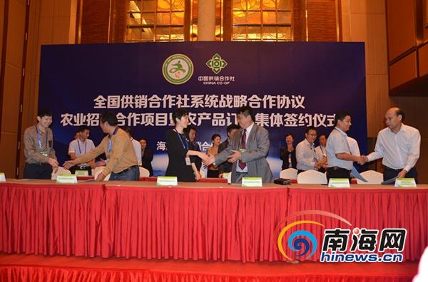 海南供销社与贵州、河北签署协议提高为农服务水平