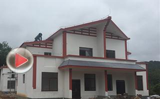 白沙生态扶贫移民银坡村20栋新房落成 村民期待早日搬进新家