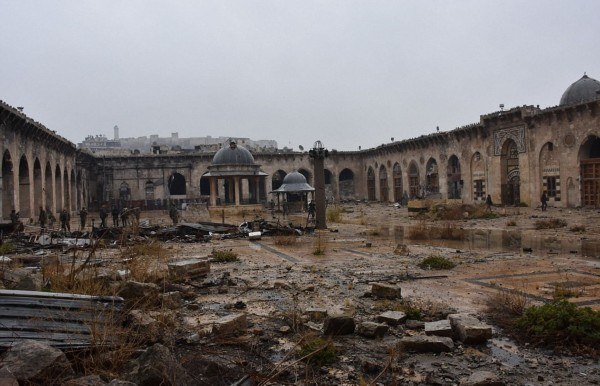 阿勒颇战前战后景色对比 苦战四年城市变废墟(高清组图)