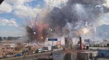 墨西哥一烟花市场发生爆炸