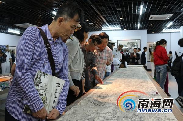传播疍家文化 徐鸿才美术作品展在三亚举办