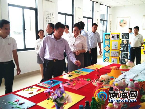 三沙永兴学校建校周年图片展开展学生作品萌化了观展人