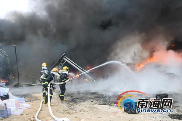 3天之内接连发生2起火灾万宁一加工厂损失约30余万元