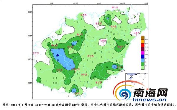 海南本周后期将出现明显降温 最低气温13度