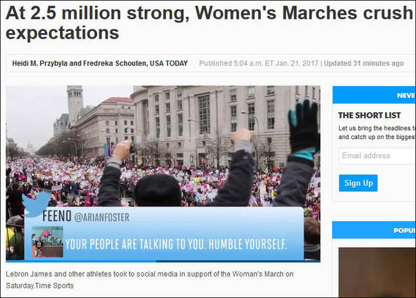 "<b>全球200万人参加反特朗普游行:麦当娜""赫敏""现身</b>"