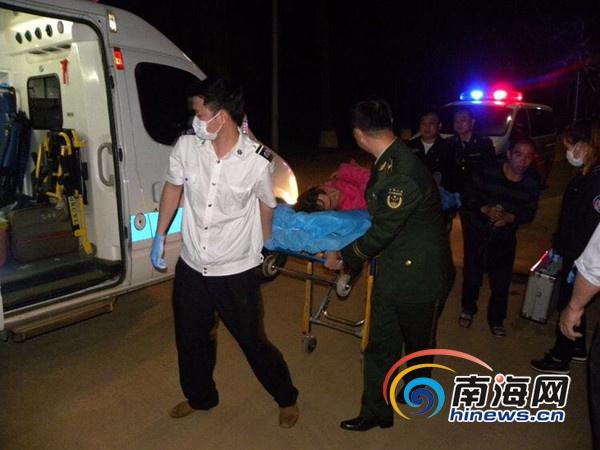 一女子海口务工突发病倒地民警发现及时送院救治