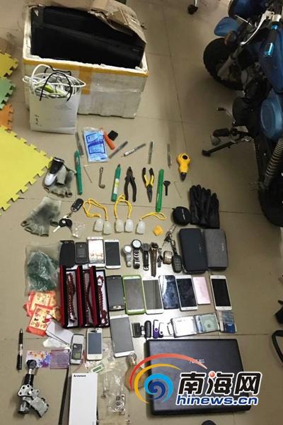 三亚警方破获系列盗窃案 4名嫌疑人落网