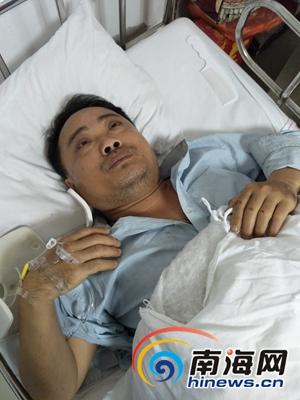 琼海男子被撞伤急需手术钱肇事者目前只付1.5万元