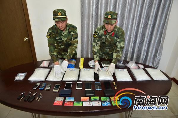 临高边防破获海上运输贩卖毒品特大团伙案件 缴获毒品8.05千克