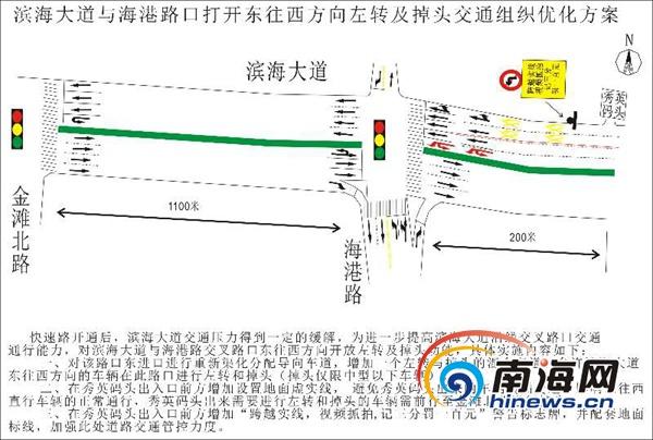 <b>17日起海口滨海大道与海港路口东往西方向可左转及掉头</b>