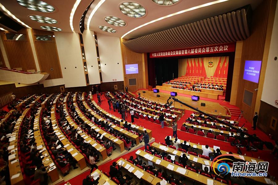 政协海南省六届五次会议开幕 于迅作工作报告