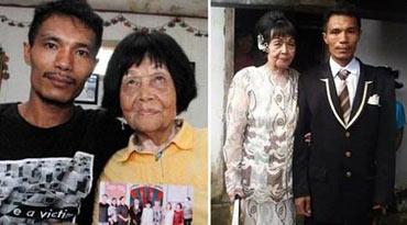 拨错电话谱恋曲 印尼28岁男娶82岁老奶奶