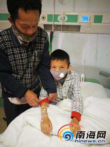 <b>9岁儿子突患白血病  琼海大石村这个村民需要帮助</b>
