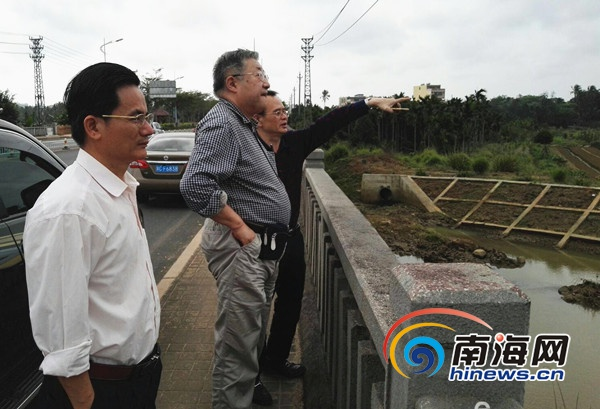 中国工程院院士王浩到文昌调研献策治理水污染