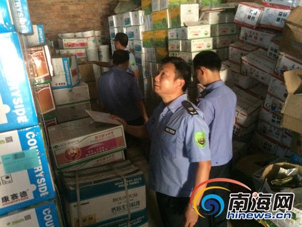 儋州破获一起农药违规案 查获四个品种近百箱违规销售农药