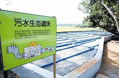 青塘村建污水生态滤床 打造美丽乡村示范工程