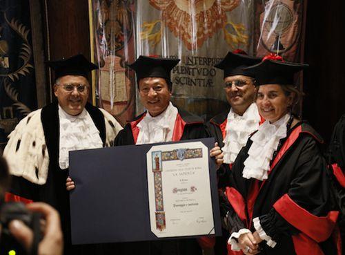海口美舍河治理专家俞孔坚教授获颁罗马大学荣誉博士