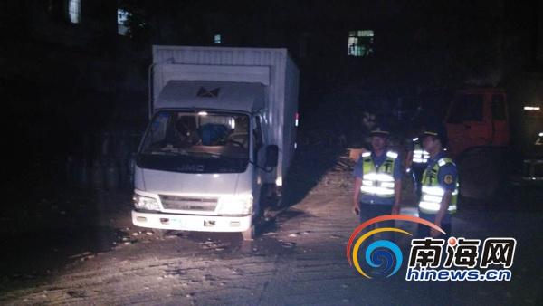 无经营许可运输危险货物海口一货车面临10万元重罚
