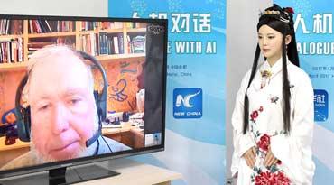 中国智能机器人对话美国观察家