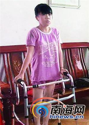 文昌锦山15岁女孩笑对病魔休学2年成绩照样优秀
