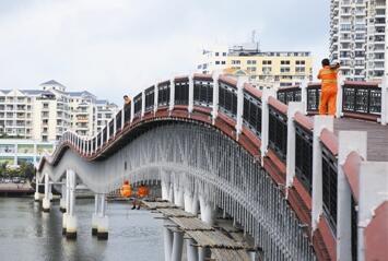 三亚河步行桥进行封闭维修 计划花费三个月时间