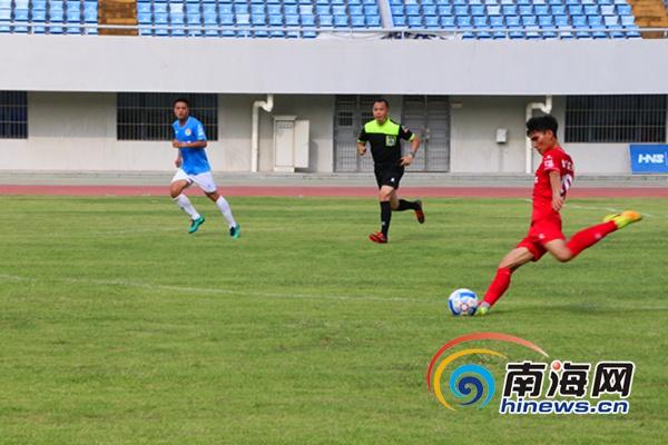 <b>2019年海南省青少年足球赛三亚德比双方1:1战平</b>