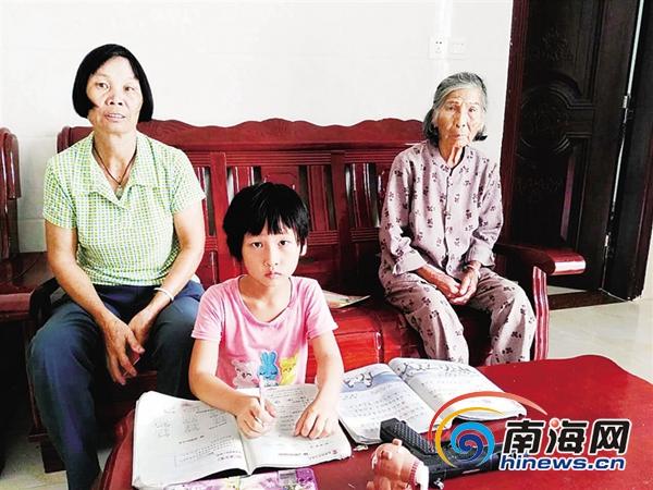 <b>泪目!母亲去世父亲失联 海口7岁女孩与外婆相依为命</b>
