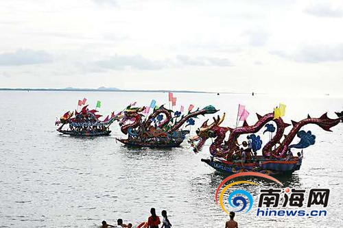 儋州泊潮村沿袭着赛龙舟的习俗 到了端午比过年还热闹_图片频道 ...