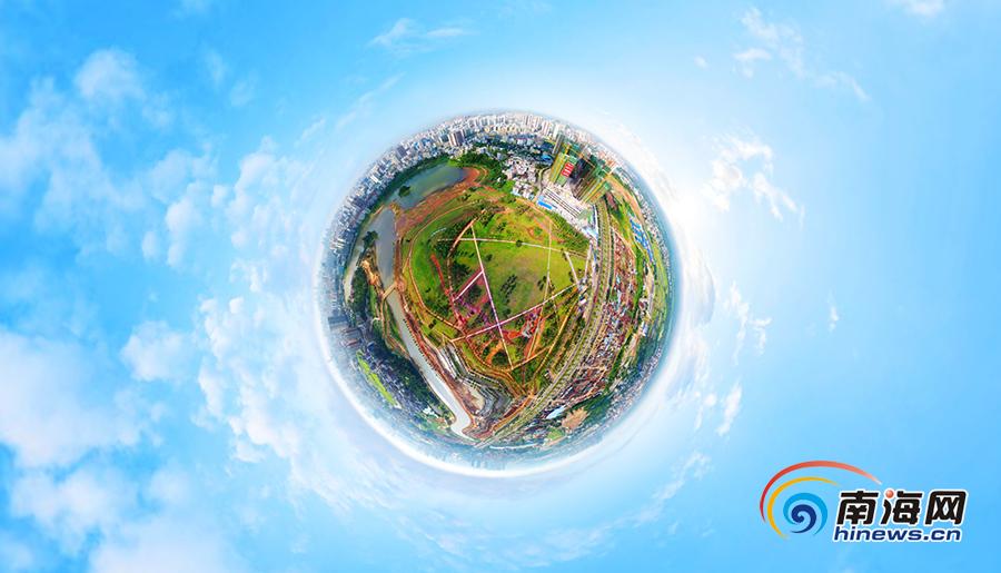 <b>南海网VR瞰海南 | 海口凤翔公园绿化工程接近尾声</b>