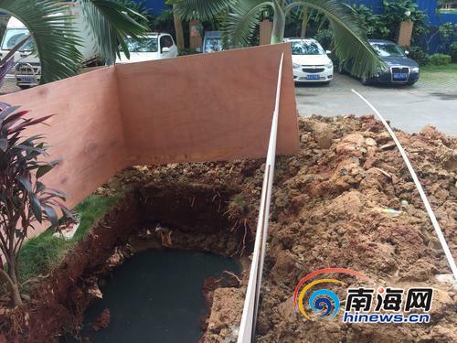 <b>海口南滨骏园小区住户投诉餐馆挖潲水池城管回应</b>