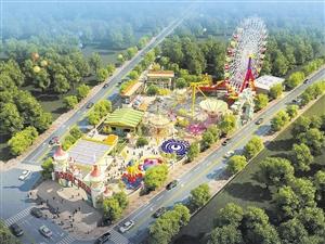 丁村万人海鲜广场游乐园开园海口最高摩天轮亮相