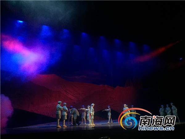 南海网记者北京探班海南大型原创民族歌剧《红色娘子军》