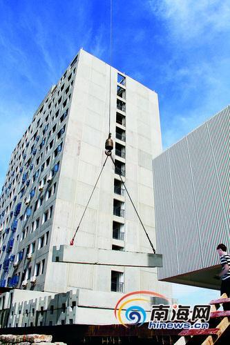 近期,我省首个预制混凝土结构装配式建筑项目将投入使用.