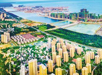 儋州海花岛初现雏形 61栋建筑封顶完工量46.1%