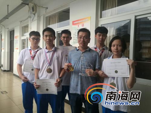 牛!国际发明大赛海口5名中学生斩获2个金奖 全英文答辩